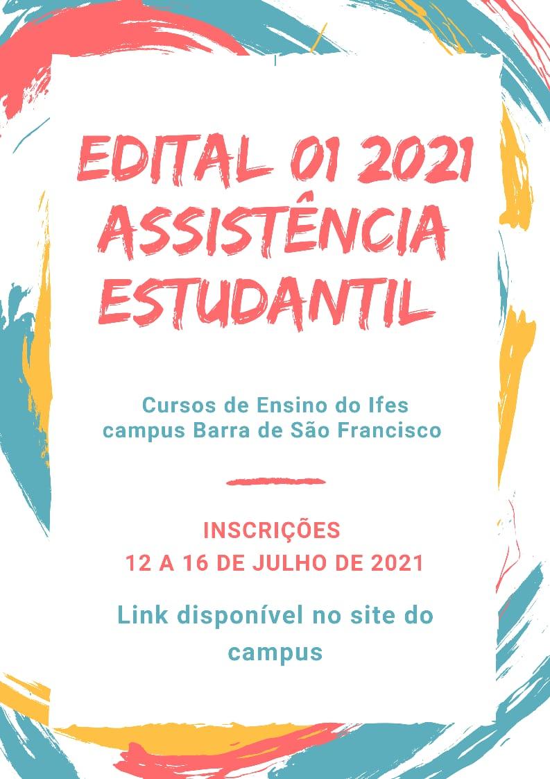 Edital 001/2021 - Assistência Estudantil - Programas Específicos